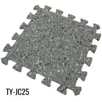 Gray Interlocking Rubber Gym Flooring for Workout Room ...