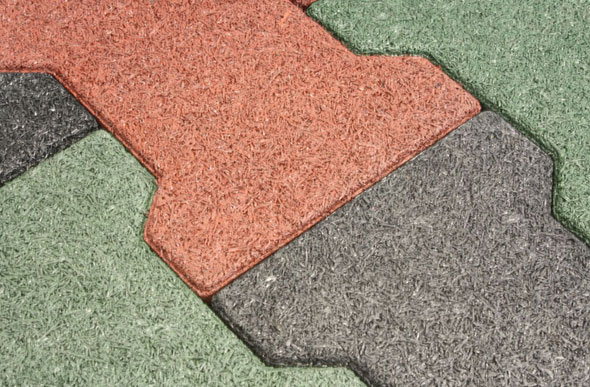 rubber pavers - recycled