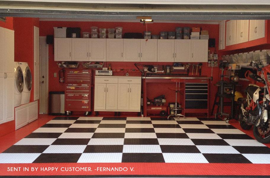 Diamond GridLoc Tiles  Snap Together Garage Floor Tiles