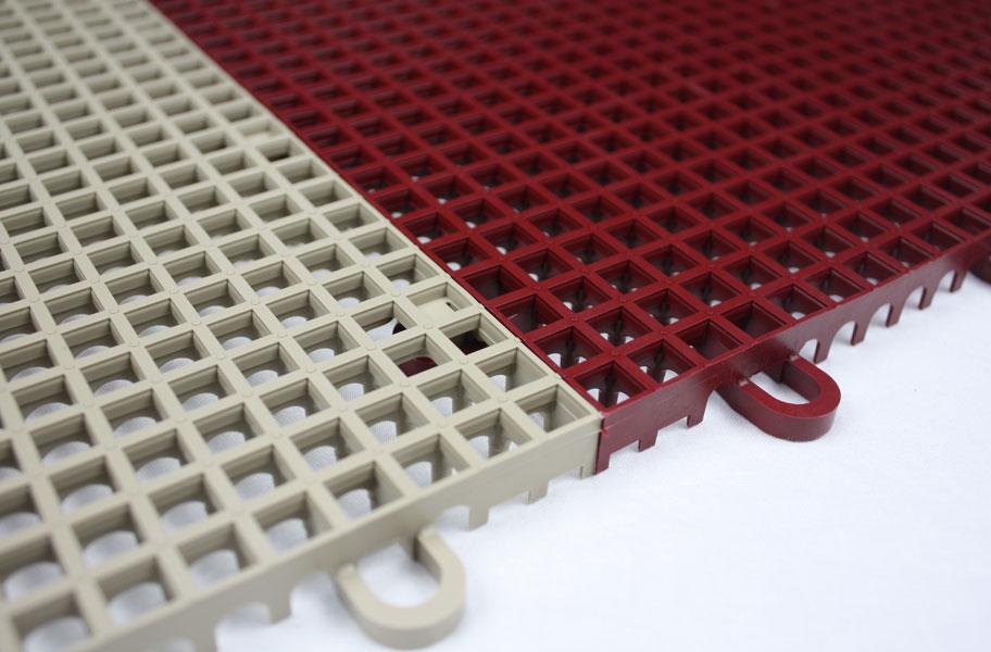Smooth GripLoc Tiles  Drainage Plastic Deck Tiles