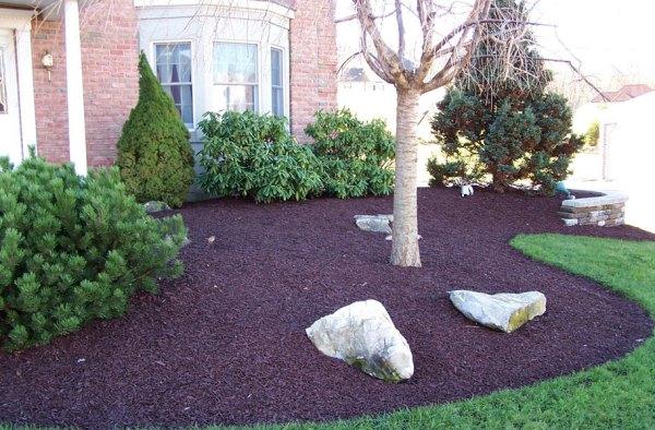 landscape rubber mulch - green