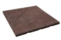 Flagstone Rubber Pavers - Durable Outdoor Floor Surface