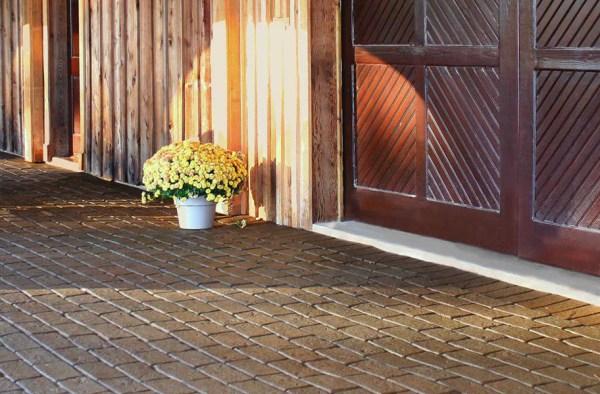 cobblestone rubber pavers - high
