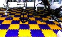 Gym Flooring with Virgin PVC Interlocking Tiles | Fab ...