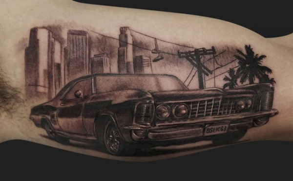 20 Car Tattoos Drawings Ideas And Designs
