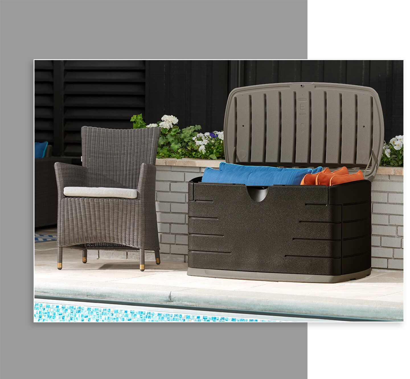 deck boxes and patio storage rubbermaid