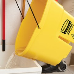 Rubbermaid Shower Chair Replacement Parts Heavy Duty Office Mat Wavebrake Side Press Buckets And Wringers Drain 44 Qt Bucket Wringer Yellow Commercial Products