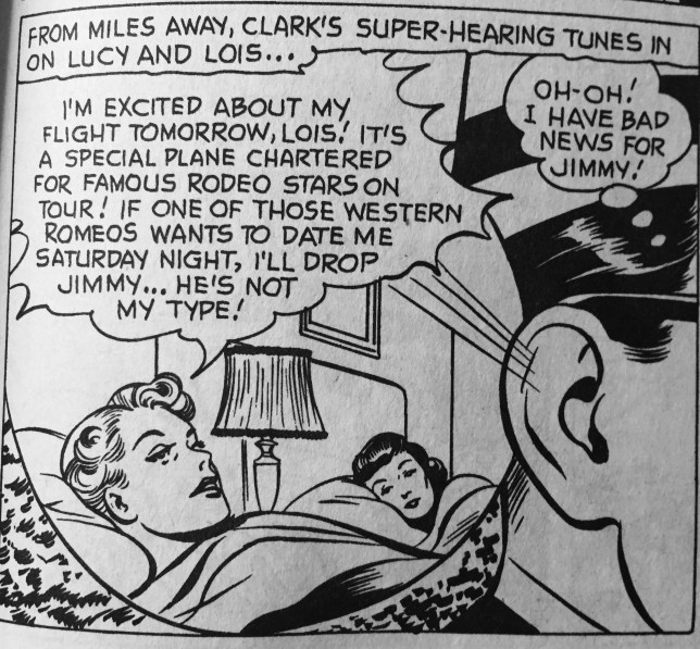 "Yes, ""Clark"" used his super-hearing to invade her privacy to get me this information."