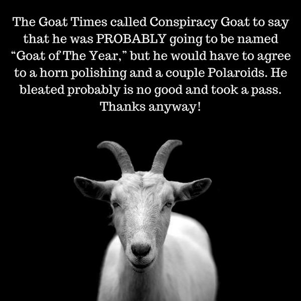 conspiracy goat