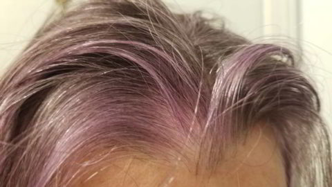 purple gray hair