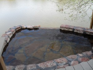 The Pool I soaked in outside, next to the Rio Grande