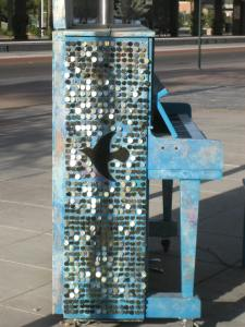 Sparkling side view of piano #11