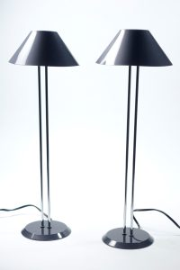 Lighting - Tall Thin 80's Table Lamps, Halogen - 8317 ...
