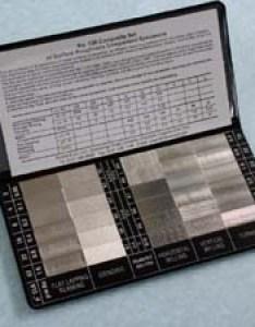 Type composite set of roughness specimens also surface finish gauges testers comparators  comparison rh rubert