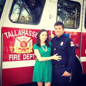 It's official! I am a firefighter wife!