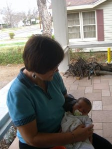Mom with baby Benjamin,  5 years ago in Texas.