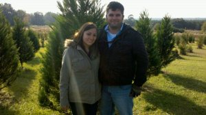 Our first year cutting down a tree! 2010