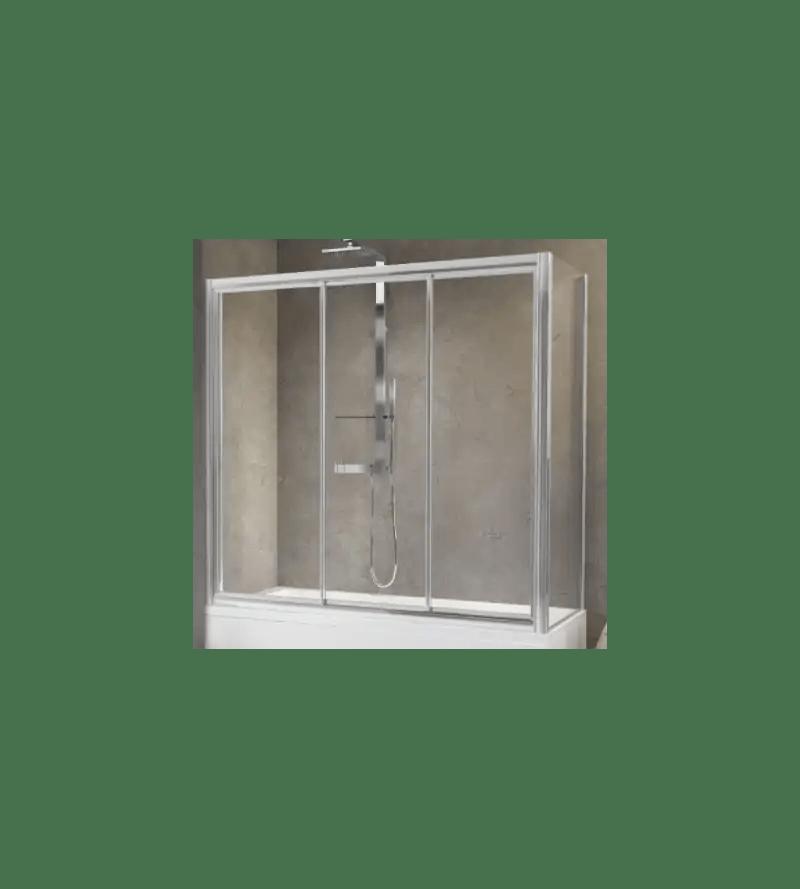 pare baignoire avec 3 portes coulissantes bilaterales novellini aurora 3pv4