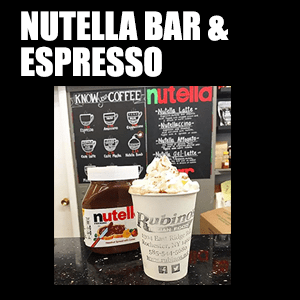 Nutella Bar & Espresso – Nutella infused with Espresso. Does it get any better?