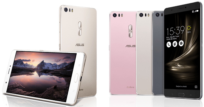 ASUS ZenFone 3 Deluxe, Color options include Glacier Silver and Shimmer Gold