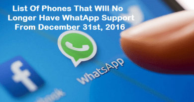 Whatsapp Support ends for the following list of phones
