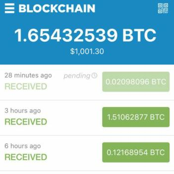 Withdawals made from BTC Shares