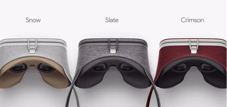 3 colors of the Daydream View