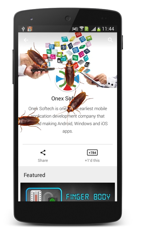 Cockroach in phone April fool's day prank