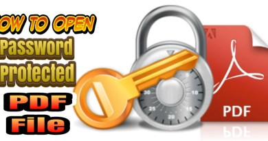 How To Open A Password Protected PDF File When You Forgot PDF Password