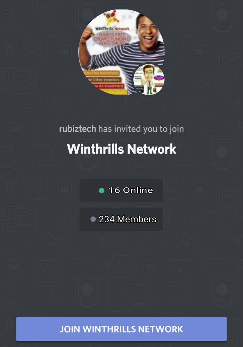 Winthrills Network community launch on discord
