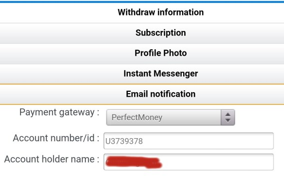 How to do direct withdrawal on winthrills nrtwork using perfect money