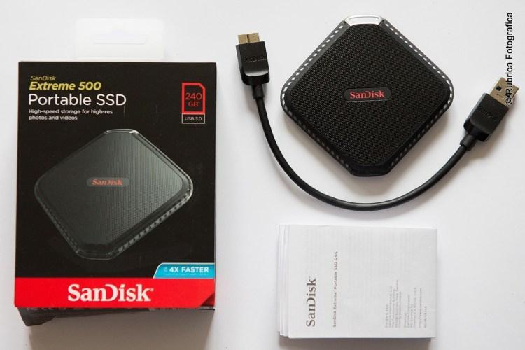 SanDisk Extremis 500 econtenuto della confezione