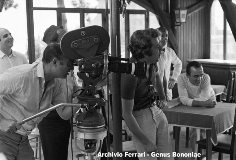 """Foto di scena, dietro le quinte del film """"Thomas e gli Indemoniati"""" di Pupi Avati - Negativo B/N - 24X35 mm"""