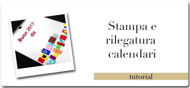 Stampa e rilegatura calendari personalizzati