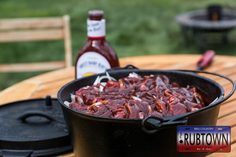 Schichtfleisch mit BBQ Sauce