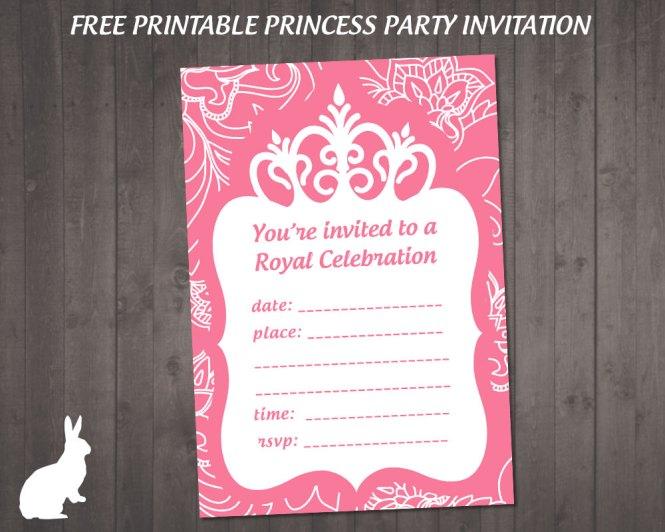 princess invitations free template