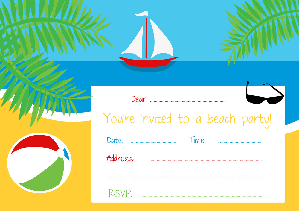 Diy Beach Wedding Invitations
