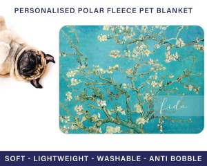 Van Gogh Almond Blossoms Personalised Pet Blanket