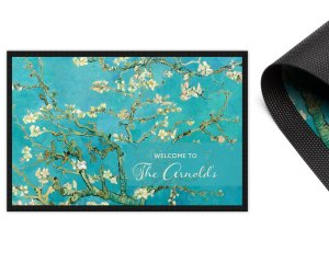 Van Gogh Almond Blossoms Personalised 2mm Ultra Thin Door Mat