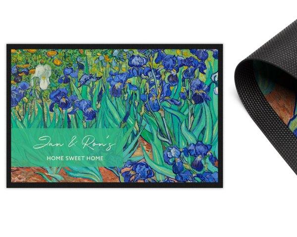 Irises Van Gogh Door Mat