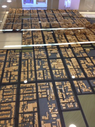 Scale model of the city of Adelaide