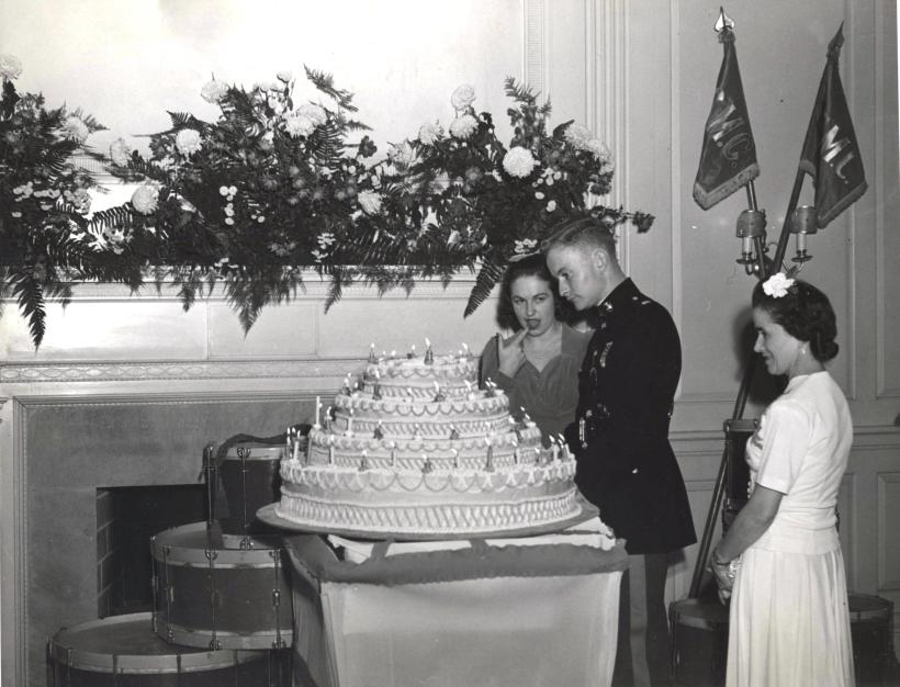 By USMC Archives from Quantico, USA - Inspecting the birthday cake