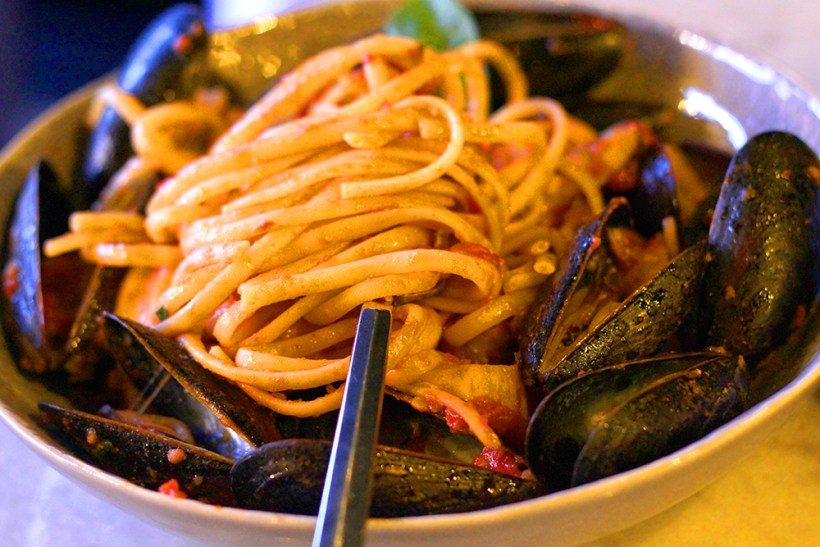 pasta with mussels at Cano