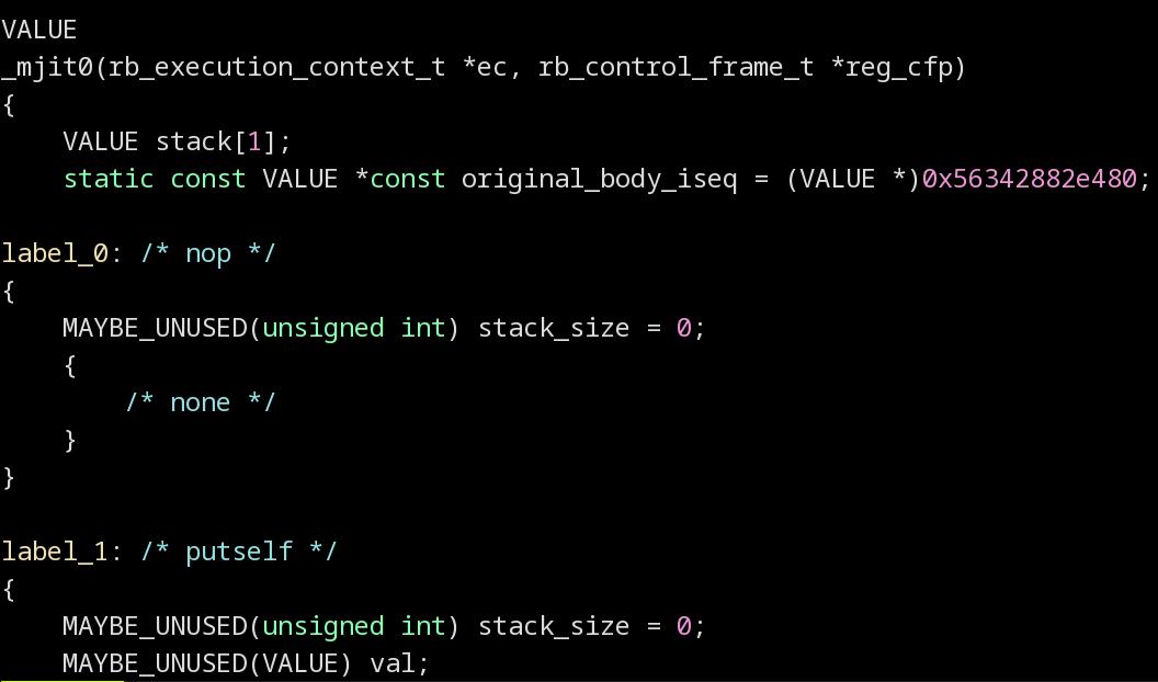 MJIT Code