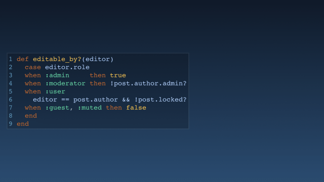 Comment code as a slide
