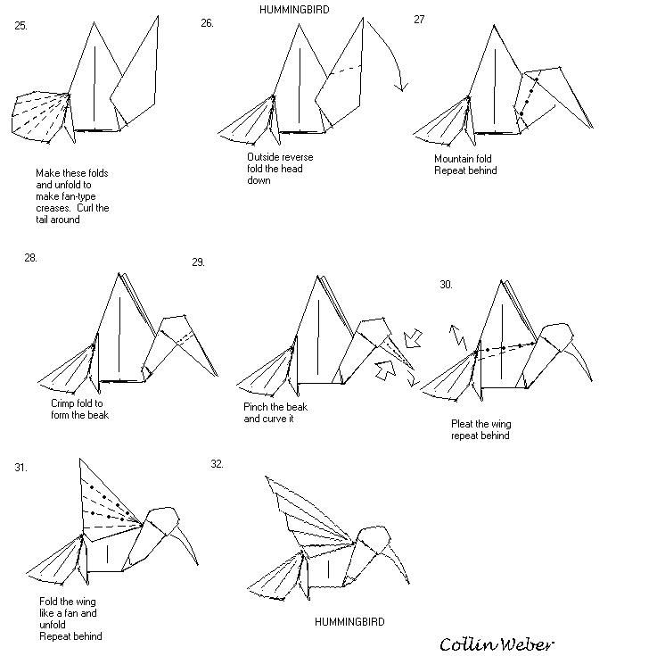 origami paper crane diagram what is the definition of venn hummingbird plan 4 (collin weber)