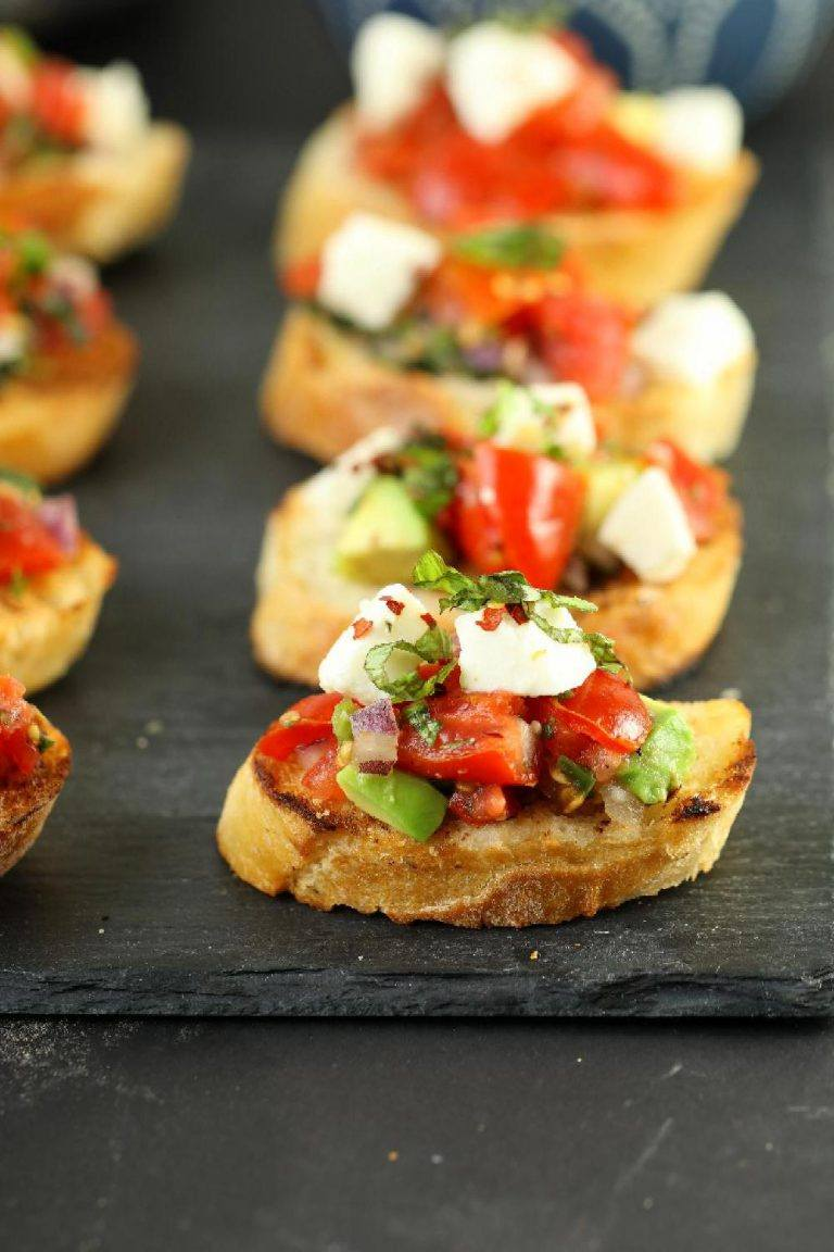 Easy Avocado Bruschetta Recipe step by step Easy Bruschetta Recipe with pictures