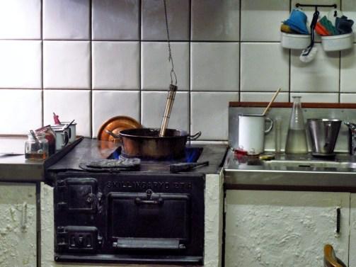Cooking of polkagris candy-Gränna-Sweden