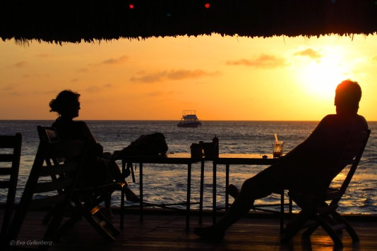 Solnedgång vid Palm Beach, Aruba