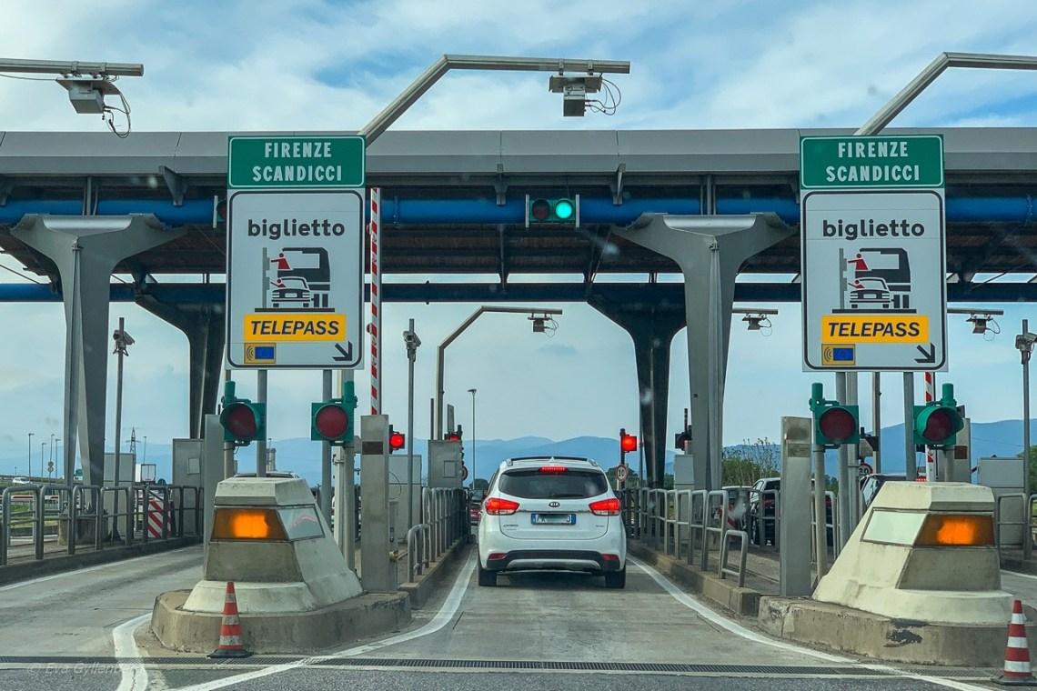 Bila i Italien - Motorvägar